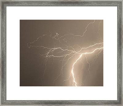 Reaching Out Touching Me Touching You Sepia Framed Print by James BO  Insogna