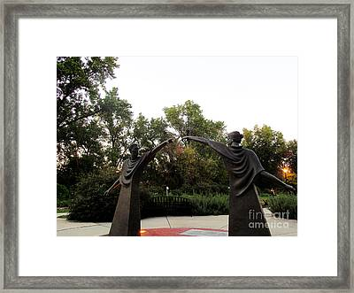 Reaching Out Two Framed Print by Tina M Wenger