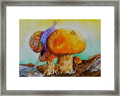 Reaching The Summit Framed Print by Beverley Harper Tinsley
