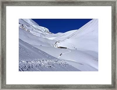 Thorong La Pass, Annapurna Circuit Trail, Nepal Framed Print