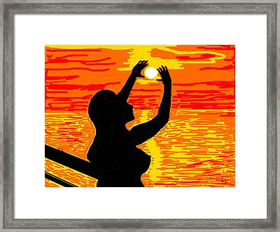 Reaching To The Sun Framed Print by Anand Swaroop Manchiraju