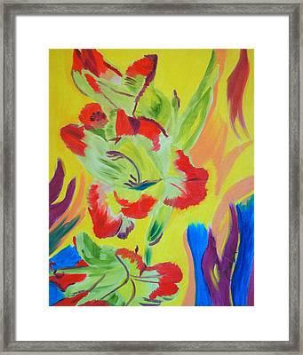 Reaching Up Framed Print by Meryl Goudey