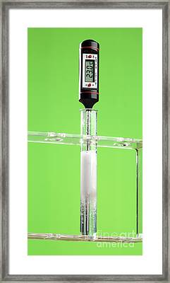 Reaction Of Magnesium Carbonate In Acid Framed Print by Martyn F. Chillmaid