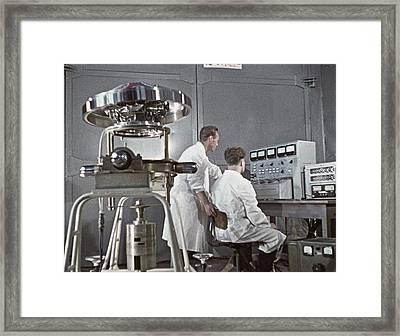 Reaction Wheel Of Molniya-1 Satellite Framed Print
