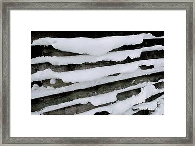 Read Between The Lines Framed Print