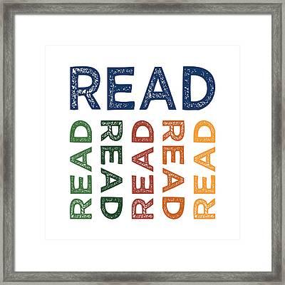 Read Cute Colorful Framed Print by Flo Karp