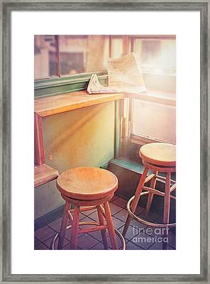 Read Eat Sit Framed Print by Danilo Piccioni