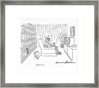 Read Me Framed Print by Bernard Schoenbaum