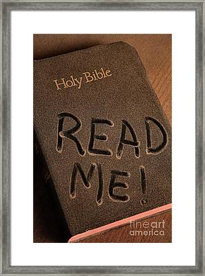 Read Me Bible Framed Print