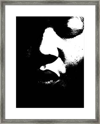 Framed Print featuring the photograph Read My Lips by Cleaster Cotton