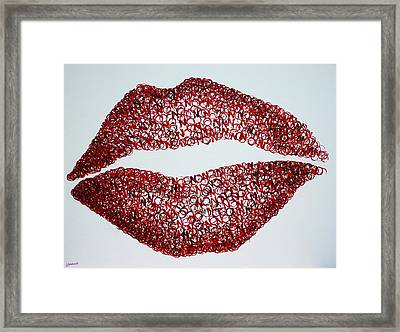 Read My Lips Framed Print by Lyndsey Hatchwell