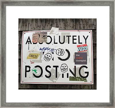 Read The Sign Framed Print by Barbara McDevitt