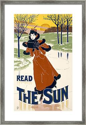 Read The Sun Framed Print by Liebler and Maass