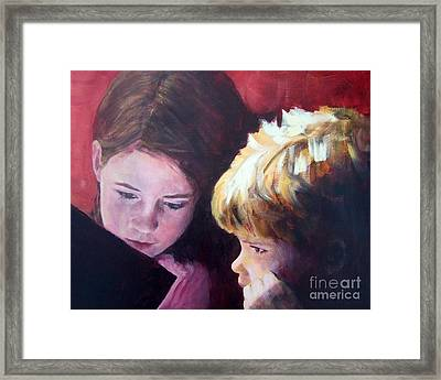 Read To Me Framed Print by Mary Lynne Powers