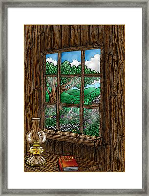 Read Framed Print by Thome Designs