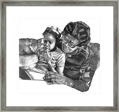 Read With Me Framed Print