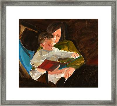 Reading Framed Print by Daniel Clarke