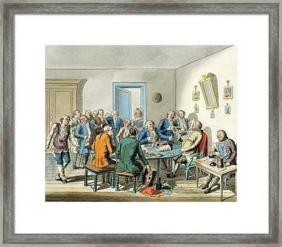 Reading A Will Framed Print by Elis Chiewitz