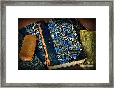 Reading And Glasses Framed Print by Paul Ward