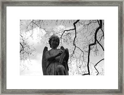 Reading Angel Framed Print