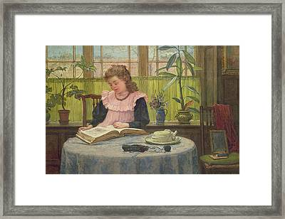 Reading Framed Print by Elias Mollineaux Bancroft