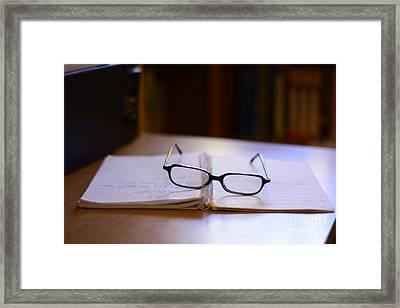 Reading Glasses Framed Print by Bobby Mandal