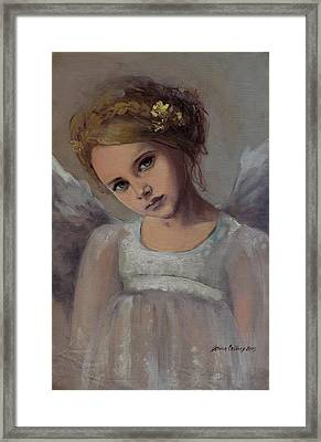 Reading Into Your Soul  Framed Print by Dorina  Costras