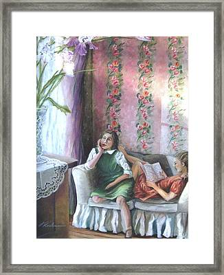 Reading - La Lecture Framed Print