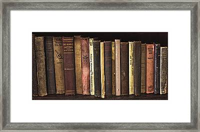 Reading Material Framed Print by Heather Applegate