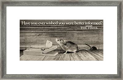 Reading Matters Framed Print