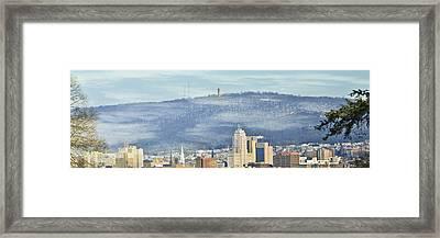 Reading Skyline Framed Print by Trish Tritz