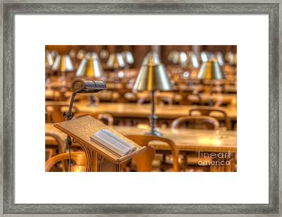 Reading Stand And Tables I Framed Print by Clarence Holmes
