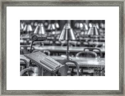 Reading Stand And Tables II Framed Print by Clarence Holmes