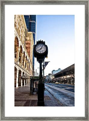 Reading Terminal Clock - Market Street Framed Print