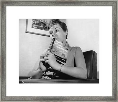 Reading The Facts Of Life Framed Print