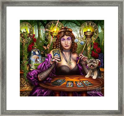 Reading The Gilded Tarot Framed Print