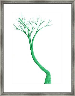 Framed Print featuring the drawing Reading The Signs Of Nature by Giuseppe Epifani