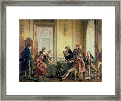Reading The Will Framed Print by Otto Erdmann