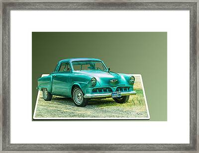 Classic - Car - Studebaker - Ready For A Spin? Framed Print by Barry Jones