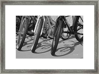 Ready For A Spin In Black And White Framed Print by Suzanne Gaff