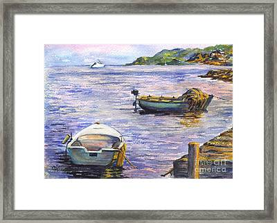 Ready For A Sunset Row Framed Print by Carol Wisniewski
