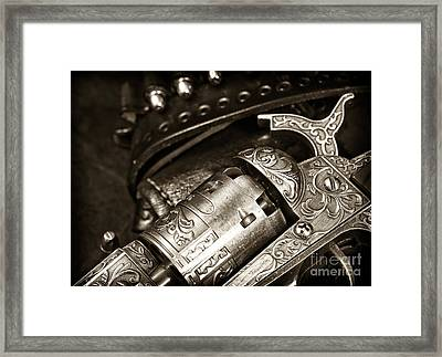 Ready For Action Framed Print by John Rizzuto