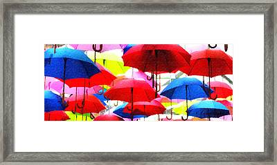 Ready For Rain Framed Print