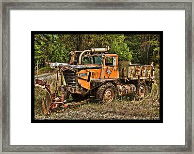 Ready For Snow By Ron Roberts Framed Print
