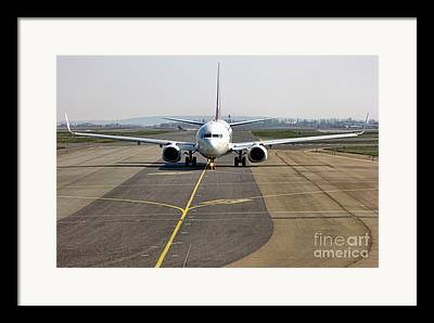 Taxiing Framed Prints