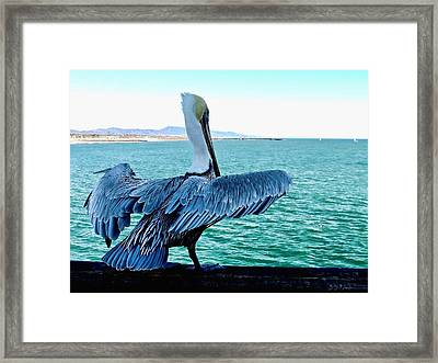 Ready For Takeoff Framed Print by Brian D Meredith