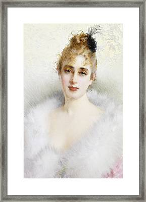 Ready For The Ball Framed Print by Vittorio Matteo Corcos