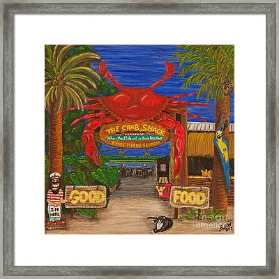 Ready For The Day At The Crab Shack Framed Print