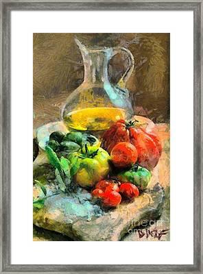 Ready For The Italian Sauce Framed Print by Dragica  Micki Fortuna