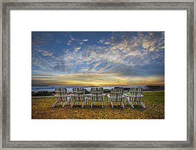 Ready For The Morning Framed Print by Debra and Dave Vanderlaan